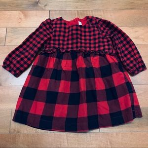 Baby Gap red and black buffalo plaid dress size 2